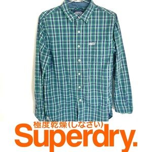 🔥 Super Dry Japanese Plaid Men's Button Up Med